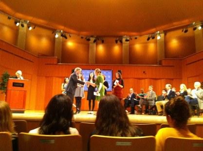 Morissa received multiple awards at Drew University.